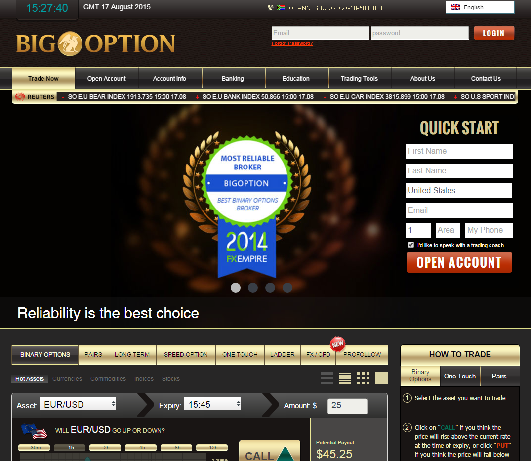 Affiliate program binary options