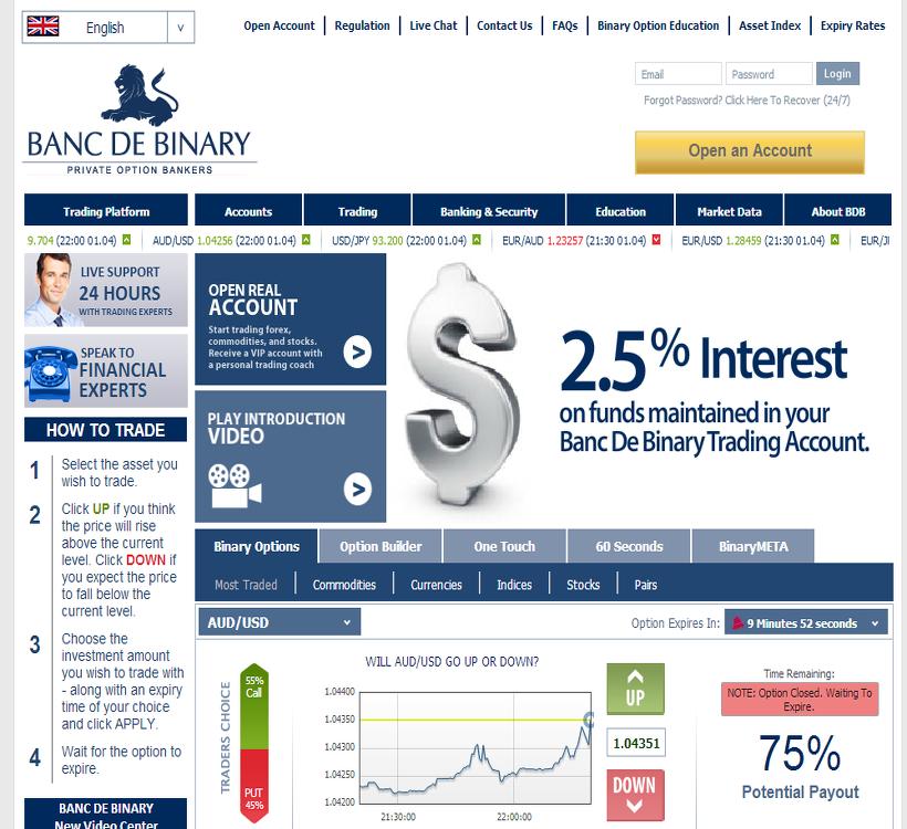 Banc de binary broker