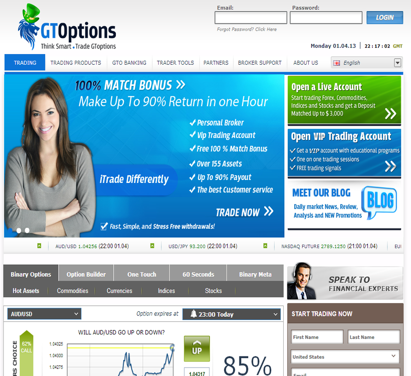 G option trading brokers