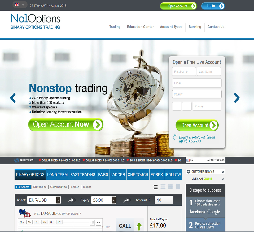 No1options broker review