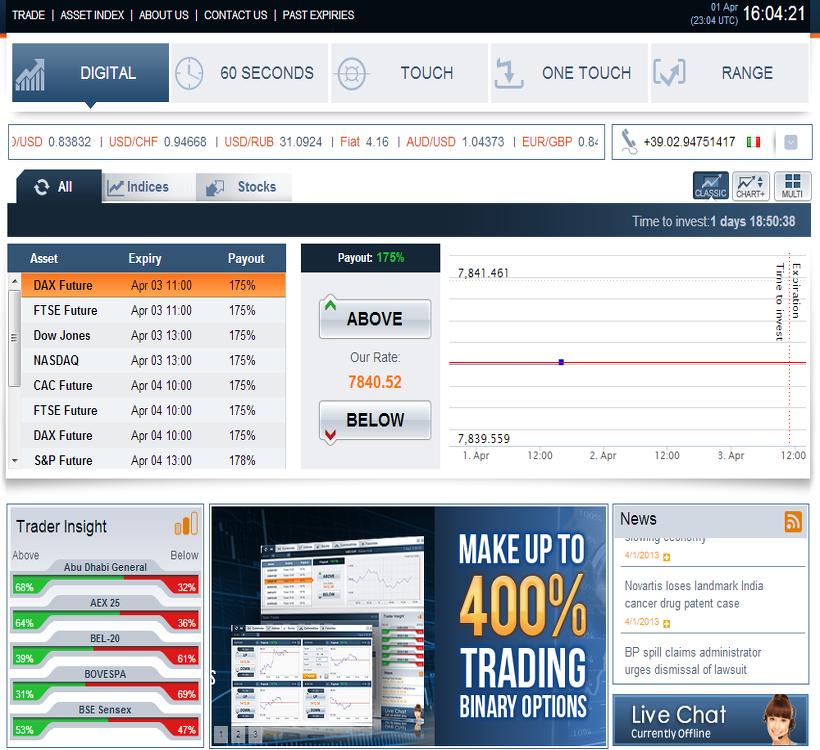 Binary options trading optionbit login