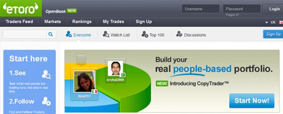 Social network trading platform